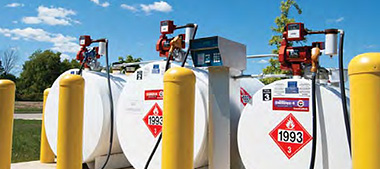 Storage tanks and pumps